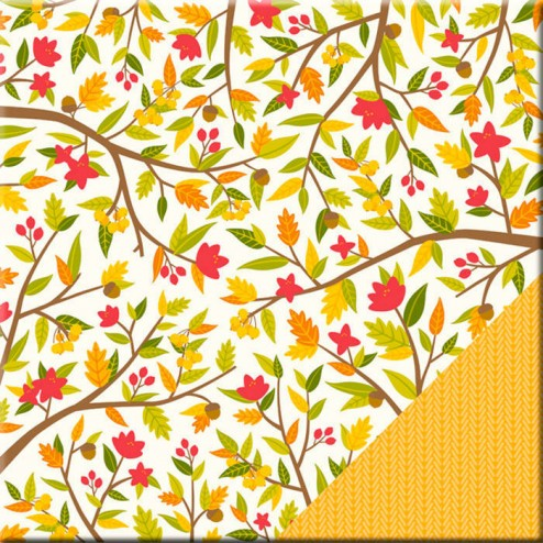 Papel Scrapbooking Fall Time (30 x 30)