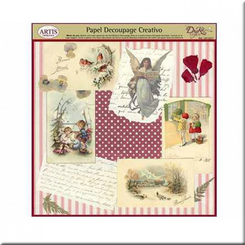 Papel Decoupage Dayka Collage Navideño