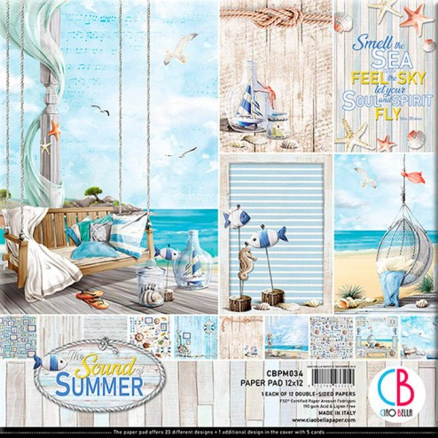 Papeles Scrapbooking The Sound Of Summer (30x30)