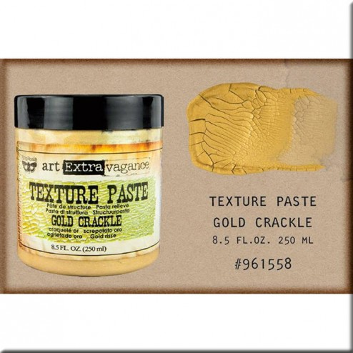Texture Paste Finnabair (250 ml) Gold Crackle