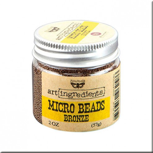 Micro Beads Bronze (57g) Finnabair art ingredients