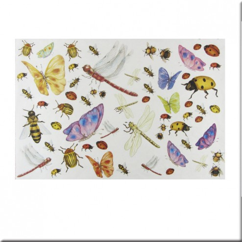 Papel decoupage - Insectos (25 x 35)