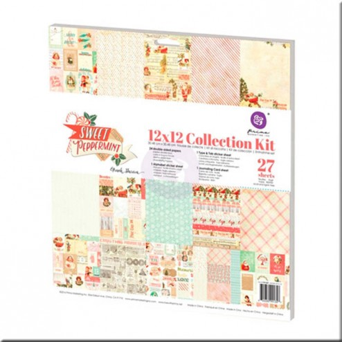 Kit Colección Scrapbooking Sweet Pippermint (30x30) Prima