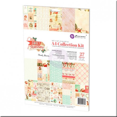 Kit Colección Scrapbooking Sweet Peppermint (A4) Prima