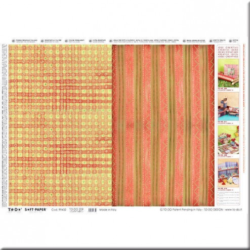 Papel decoupage - Country fabric (50 x 70)