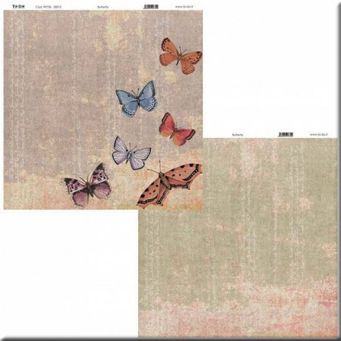 Papel Scrapbooking Butterfly (30 x 30)