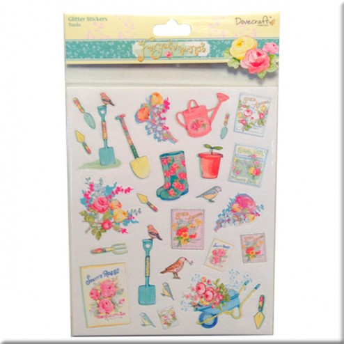 Adhesivos con glitter Tools - Dovecraft Forget Me Not