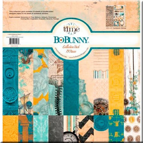 Papeles Scrapbooking - Somewhere in Time (30 x 30) BoBunny