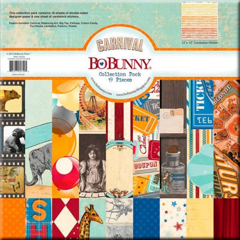 Papeles Scrapbooking - Carnival (30 x 30) BoBunny