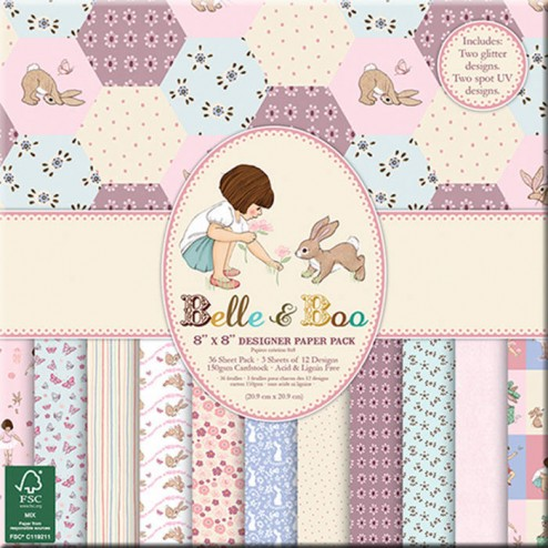 Papeles Scrapbooking Belle & Boo (20x20)