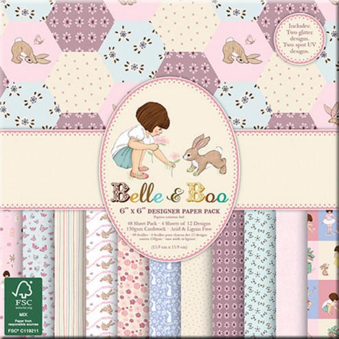 Papeles Scrapbooking Belle & Boo (15x15)