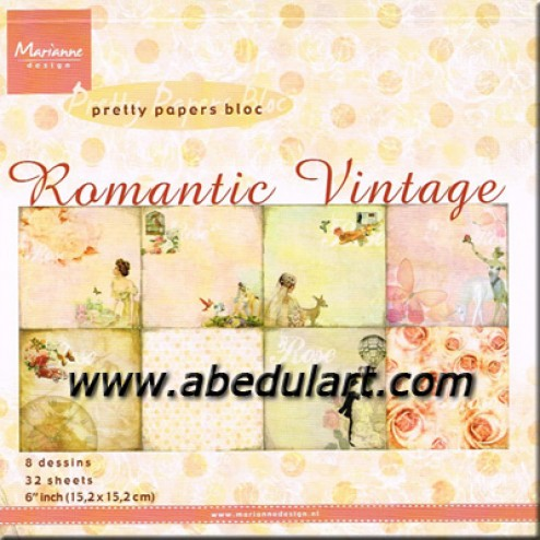 Scrapbooking - Block Romantic Vintage