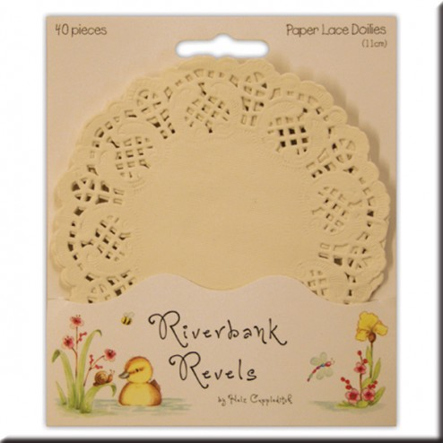 Blondas de papel blancas - Riverbank Revels