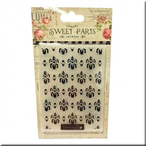 Carpeta embossing - Ornamentos Sweet Paris