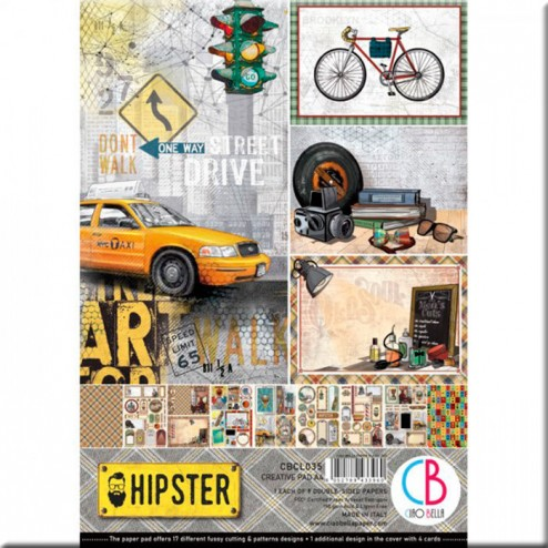 Papeles Scrapbooking Hipster (A4)