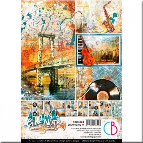 Papeles Scrapbooking Blue Note (A4)