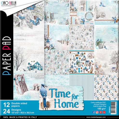 Papeles Scrapbooking Time For Home (30x30)