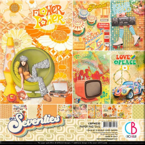 Papeles Scrapbooking The Seventies (30x30)