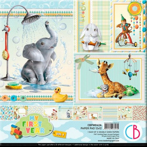 Papeles Scrapbooking My First Year Vol.1 (30x30)