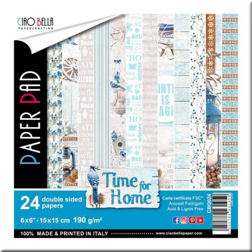 Papeles Scrapbooking Time for Home (15x15)