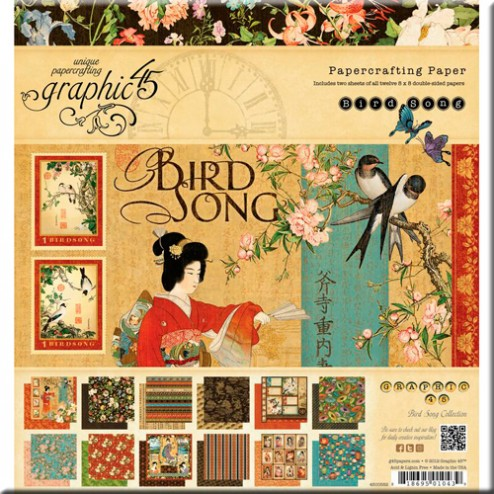 Papeles Scrapbooking - Bird Song (20x20) - Graphic 45