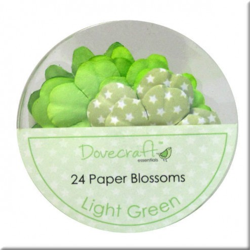 Flores de papel Light Green - Dovecraft
