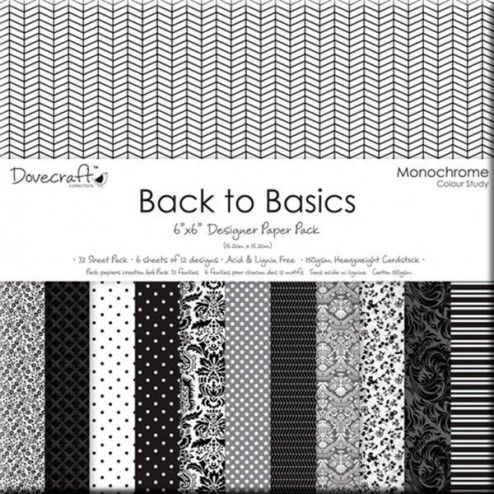 Papeles Scrapbooking - Back to Basics Monochrome (15x15)