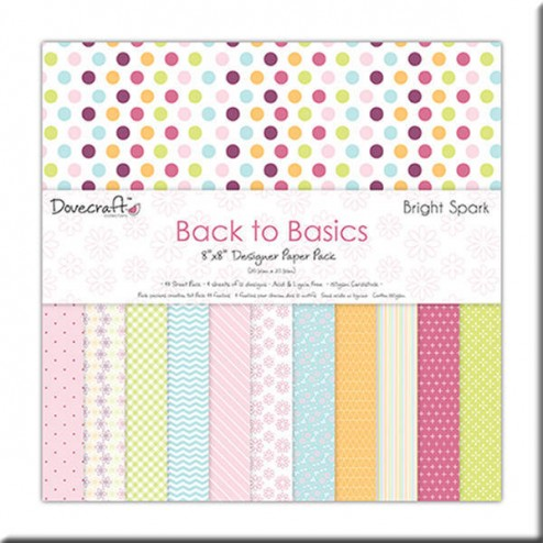 Papeles Scrapbooking - Back to Basic Bright Spark (20x20)