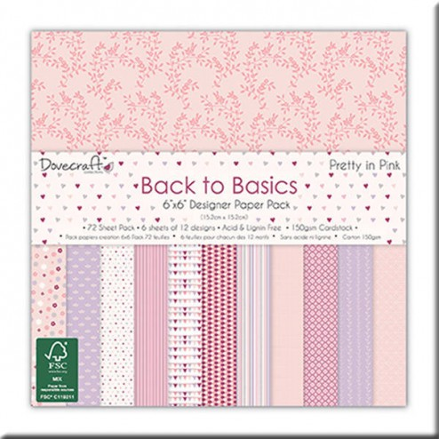 Papeles Scrapbooking - Back to Basic Pretty in Pink (15x15)