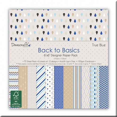 Papeles Scrapbooking - Back to Basic True Blue (15x15)