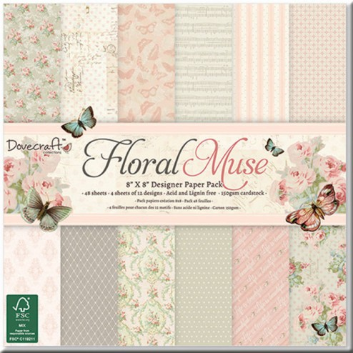 Papeles Scrapbooking - Floral Muse (20 x 20)
