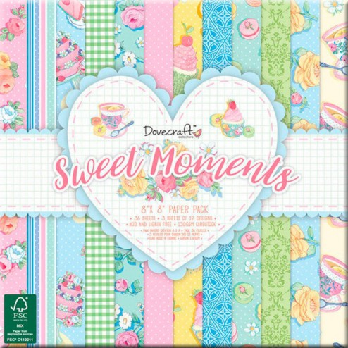 Papeles Scrapbooking Sweet Moments (20x20)