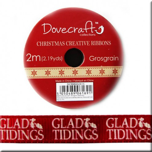 Cinta Grosgrain Roja Glad Tidings - Glad Tidings