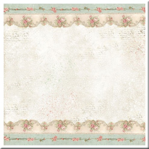 Papel de Arroz Sweet Christmas Border with Roses Stamperia (50x50)