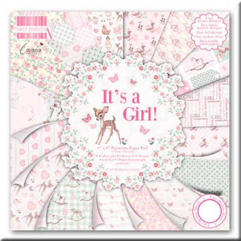 Papel Scrapbooking - It's a Girl! (15 x 15)