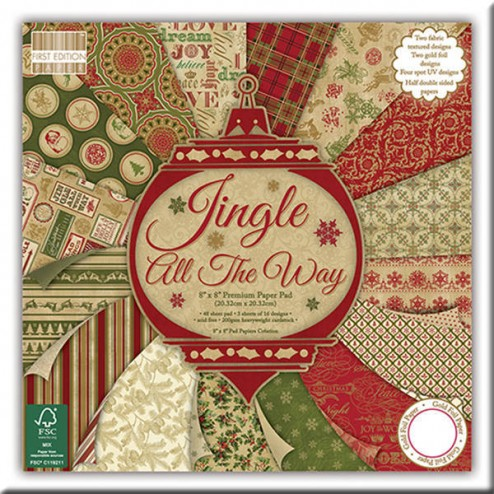 Papeles Scrapbooking – Jingle All The Way (20 x 20)