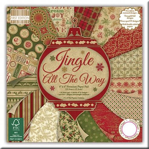 Papeles Scrapbooking – Jingle All The Way (15 x 15)