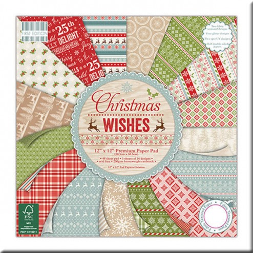 Papeles Scrapbooking – Christmas Wishes (30 x 30)