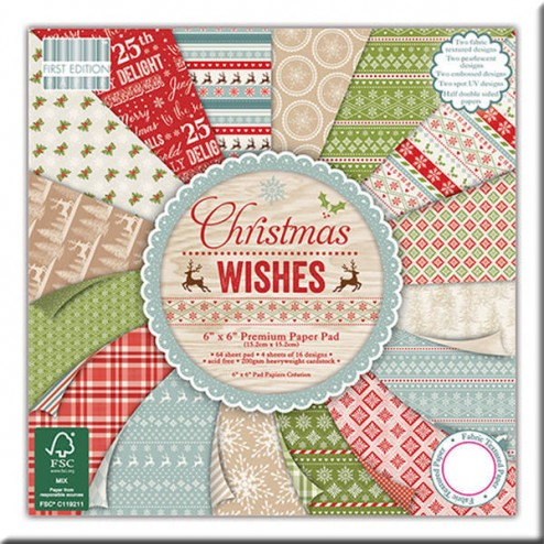 Papeles Scrapbooking – Christmas Wishes (15 x 15)