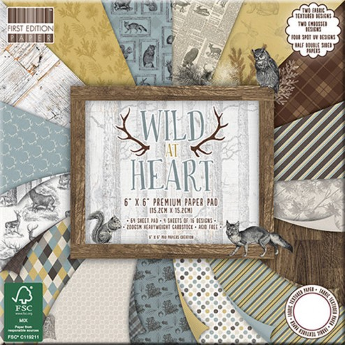 Papeles Scrapbooking - Wild at Heart (15 x 15)