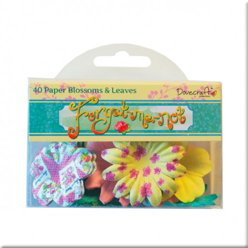 Flores y Hojas de Papel - Dovecraft Forget Me Not