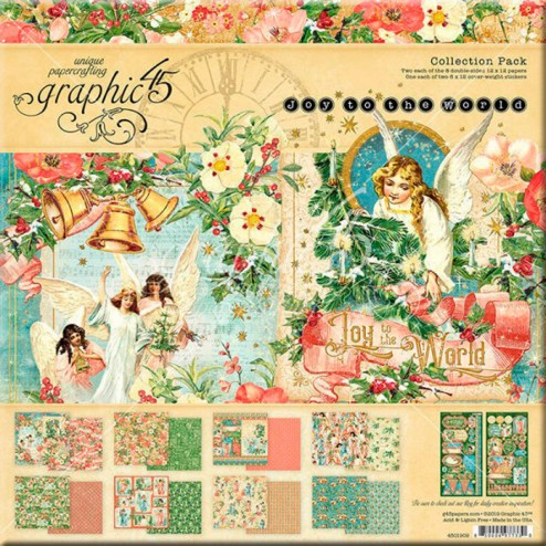 Papeles Scrapbooking Joy to the World (30x30)