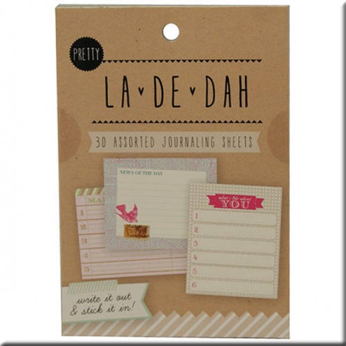 Journaling Sheets La de Dah - Pretty