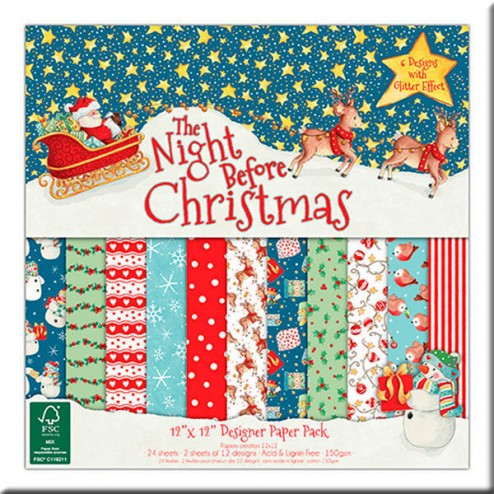Papeles Scrapbooking - The Night Before Christmas (30 x 30)