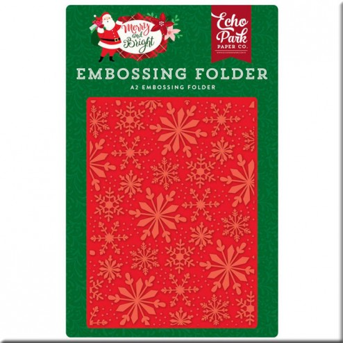 Carpeta de Embossing Copos Merry And Bright