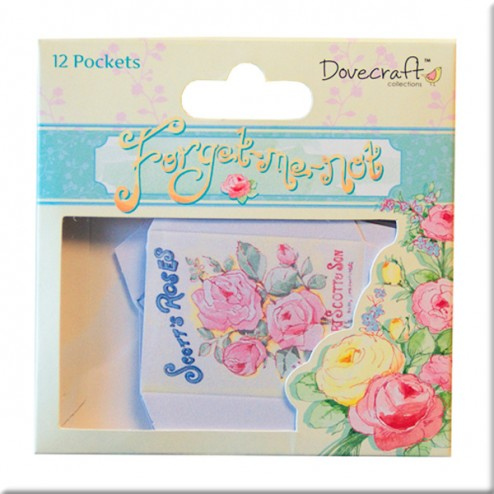 Mini bolsillos de papel - Dovecraft Forget Me Not