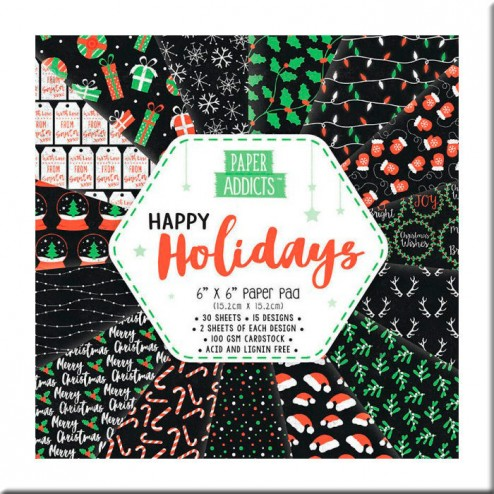Papeles Scrapbooking Happy Holidays (15x15)