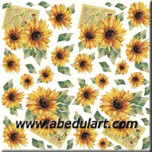 Papel de arroz - Girasoles