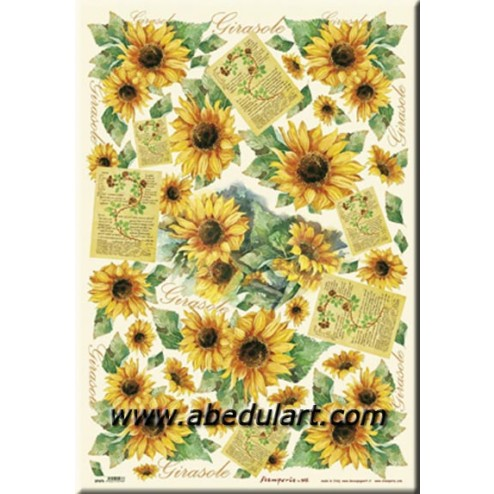 Papel decoupage - Girasoles