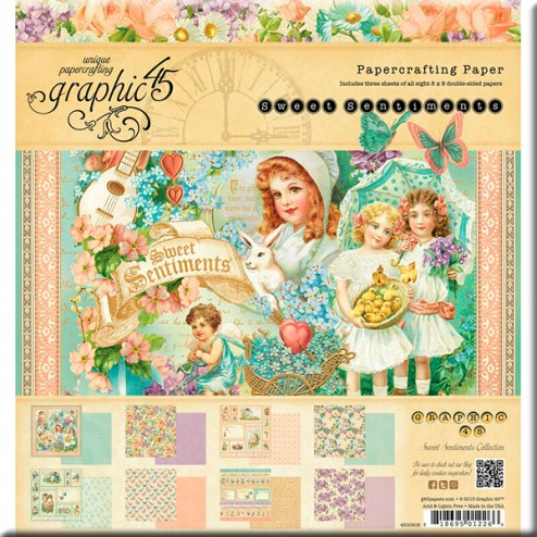 Papeles Scrapbooking - Sweet Sentiments (20x20)